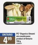 PC Organics Umami Mix Mushrooms - 150 G