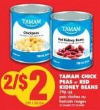 Tamam Chick Peas or Red Kidney Beans - 796 mL