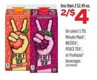 Minute Maid - Nestea - Peace Tea - Or Fruitopia Beverages - 1.75l