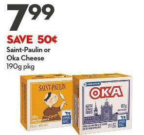 Saint-paulin or  Oka Cheese 190g Pkg