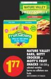 Nature Valley Bars - Betty Crocker or Mott's Fruit Snacks - 130-230 g