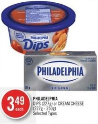 Philadelphia Dips (227g) or Cream Cheese (227g - 250g)