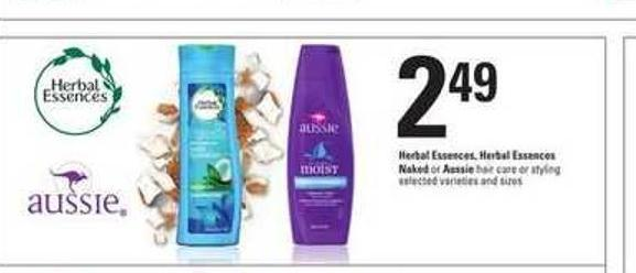 Herbal Essences - Herbal Essences Naked Or Aussie Hair Care Or Styling
