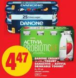 Danone Creamy - 16 X100 g Yogurt or Danactive or Activia Drinkable Yogurt - 8 X 93 mL