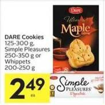 Dare Cookies 125-300 g - Simple Pleasures 250-350 g or Whippets 200-250 g