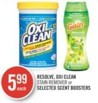 Resolve - Oxi Clean Stain Remover or Selected Scent Boosters