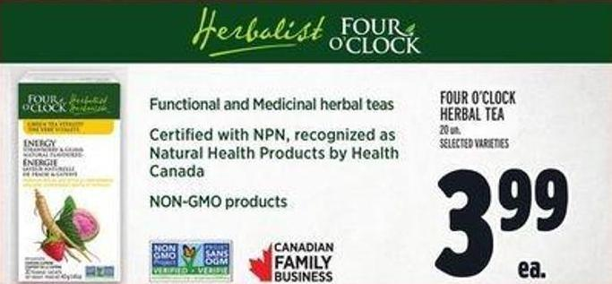 Four O'clock Herbal Tea