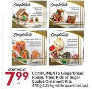 Compliments Gingerbread House - Train - Kids or Sugar Cookie Ornament Kits