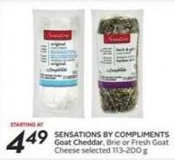 Sensations By Compliments Goat Cheddar