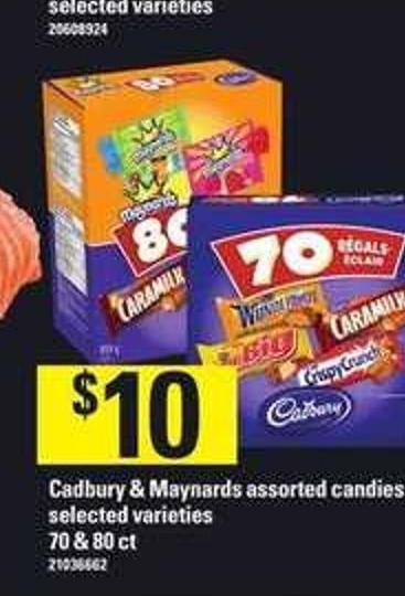 Cadbury & Maynards Assorted Candies - 70 & 80 Ct