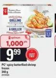 PC Spicy Butterflied Shrimp - 340 g