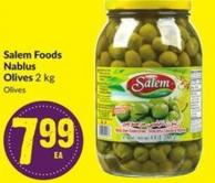 Salem Foods Nablus Olives 2 Kg