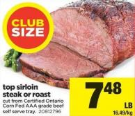Top Sirloin Steak Or Roast