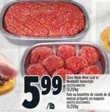 Store Made Meat Loaf Or Meatballs Homestyle