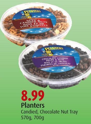 Planters Candied - Chocolate Nut Tray 570g - 700g