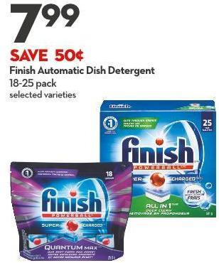 Finish Automatic Dish Detergent 18-25 Pack