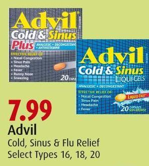 Advil Cold - Sinus & Flu Relief