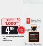 PC Espresso Ground Coffee - 250 G