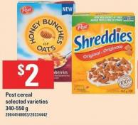 Post Cereal - 340-550 g