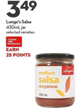 Longo's Salsa 430ml Jar