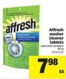 Affresh Washer Cleaner Tablets - 60 g