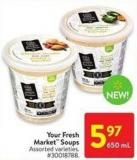 Your Fresh Market Soups 650 ml