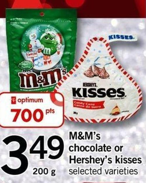 M&m's Chocolate Or Hershey's Kisses - 200 G