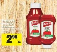 French's Tomato Ketchup - 750 Ml–1 L