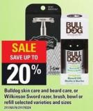 Bulldog Skin Care And Beard Care - Or Wilkinson Sword Razor - Brush - Bowl Or Refill