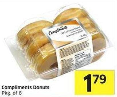 Compliments Donuts Pkg of 6