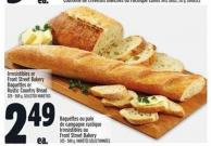Irresistibles Or Front Street Bakery Baguettes Or Rustic Country Bread