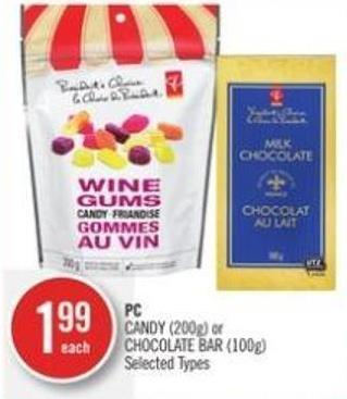 PC Candy (200g) or Chocolate Bar (100g)