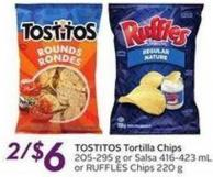Tostitos Tortilla Chips 205-295 g or Salsa 416-423 mL or Ruffles Chips 220 g