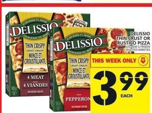 Delissio Thin Crust Or Rustico Pizza