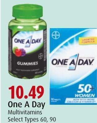 One A Day Multivitamins Select Types 60 - 90