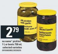 No Name Pickles 1 L Or Beets 750 Ml