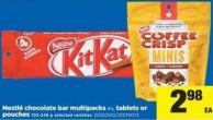 Nestlé Chocolate Bar Multipacks - 4's - Tablets Or Pouches - 120-246 g