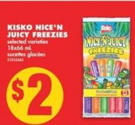 Kisko Nice'n Juicy Freezies - 18x66 mL
