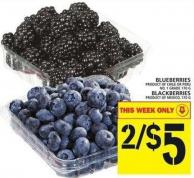 Blueberries Or Blackberries