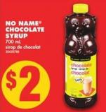 No Name Chocolate Syrup - 700 mL