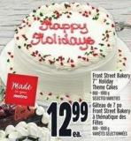 Front Street Bakery 7in Holiday Theme Cakes 800 - 1000 g