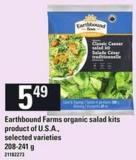 Earthbound Farms Organic Salad Kits - 208-241 G