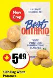 10lb Bag White Potatoes Product of Ontario Canada No.1