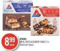 Atkins Meal Replacement Bars 5's