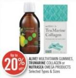 Alive! Multivitamin Gummies - Trumarine Collagen or Nutrasea Omega Products