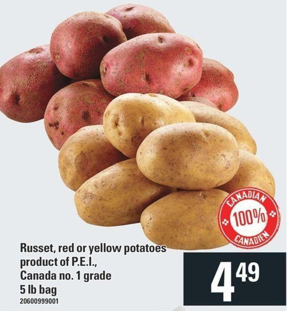 Russet - Red Or Yellow Potatoes