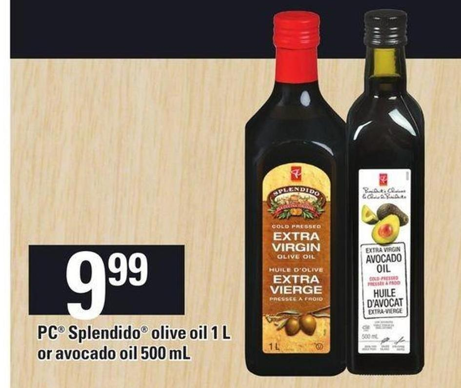 PC Splendido Olive Oil 1 L Or Avocado Oil 500 Ml