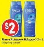 Finesse Shampoo or Hairspray 300 mL