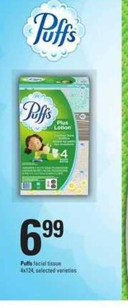 Puffs Facial Tissue - 4x124