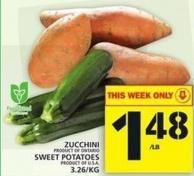 Zucchini Or Sweet Potatoes